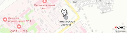 Храм Святого Преподобного Пимена Угрешского на карте Рязани