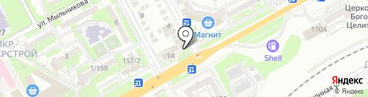 Киоск по продаже мяса и молочных продуктов на карте Ростова-на-Дону