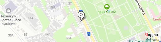 Омут на карте Липецка