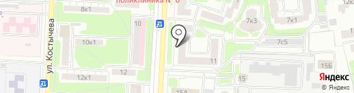 Костычево, ТСЖ на карте Рязани