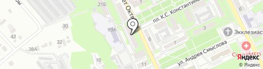 Поликлиника, Городская больница №3 на карте Липецка