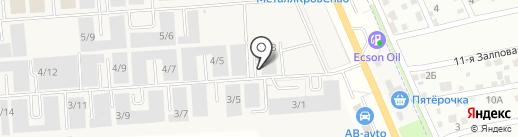 Столбери на карте Ростова-на-Дону
