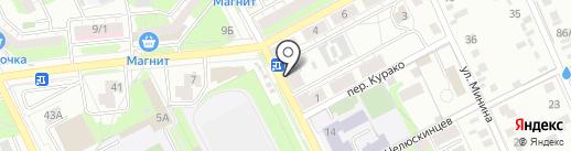Искра на карте Липецка