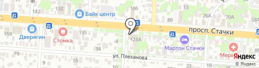 Салон мягкой мебели на карте Ростова-на-Дону