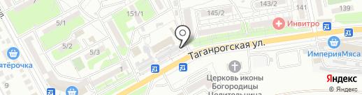 Саквояж на карте Ростова-на-Дону