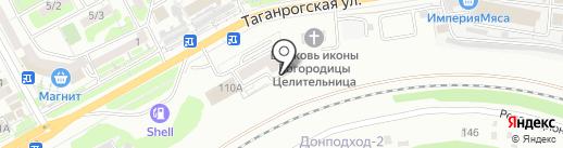 Военвед на карте Ростова-на-Дону