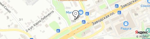 Автомаг на карте Липецка