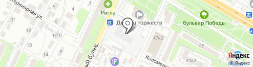 Магазин мяса на карте Рязани