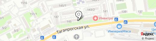 Платье на карте Ростова-на-Дону