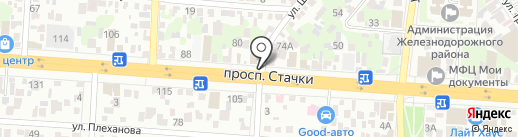 Море рыбы на карте Ростова-на-Дону