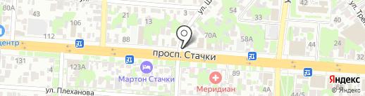 Центр реабилитации и кинезитерапии по методу доктора Бубновского на карте Ростова-на-Дону