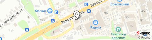 Арника на карте Липецка