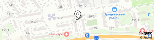 Натек на карте Ростова-на-Дону