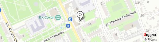 Селена на карте Липецка