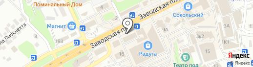 Скорая медицинская помощь на карте Липецка