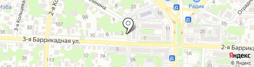 Пенная лавка на карте Ростова-на-Дону