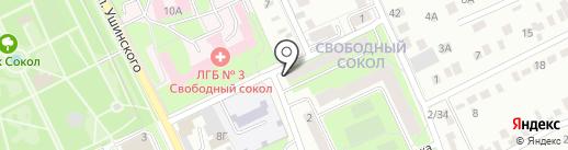 Участковый пункт полиции на карте Липецка