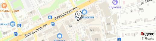 Магазин молочных и кондитерских изделий на карте Липецка