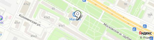 Кустовой вычислительный центр, МП на карте Рязани