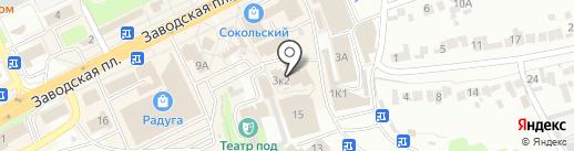Магазин тканей и швейной фурнитуры на карте Липецка