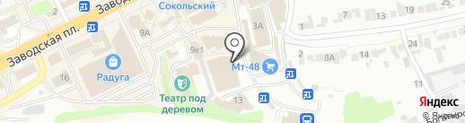 Заправочная станция 48 на карте Липецка