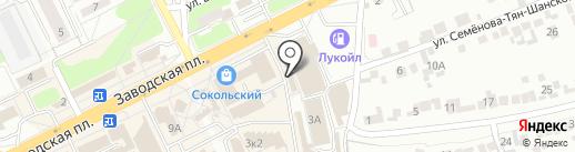 Липецкптица на карте Липецка