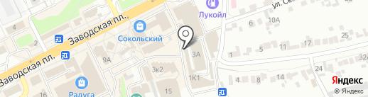 Минутка на карте Липецка
