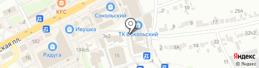 Магазин мясной продукции на карте Липецка