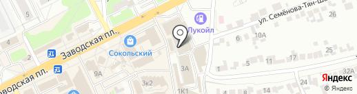 Магазин по продаже хлебобулочных изделий на карте Липецка