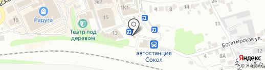 Киоск по продаже табачных изделий на карте Липецка