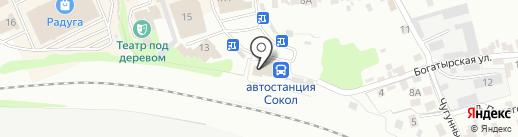 Церковная лавка на Богатырской на карте Липецка