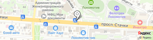 РостовОКНО на карте Ростова-на-Дону