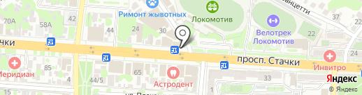 Магазин швейной фурнитуры на карте Ростова-на-Дону