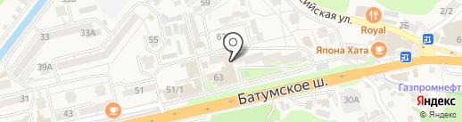 Алёнка на карте Сочи