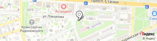 Живое на карте Ростова-на-Дону