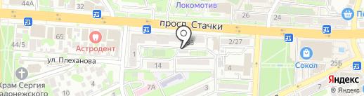 Оберег памяти на карте Ростова-на-Дону