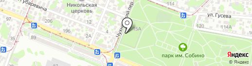 Церковь Донской иконы Божией Матери на карте Ростова-на-Дону