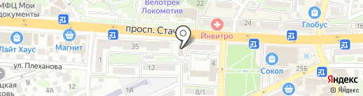 Романтика на карте Ростова-на-Дону
