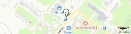 Магазин цветов на карте Молочного