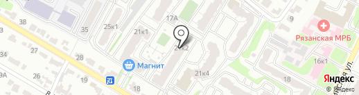 Квартал, ТСЖ на карте Рязани