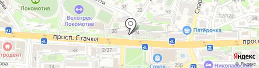 Донской кредит, КПК на карте Ростова-на-Дону