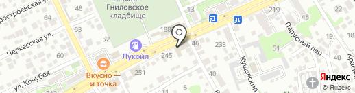 Серебряный Ручей на карте Ростова-на-Дону