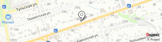 Шиномонтажная мастерская на карте Ростова-на-Дону