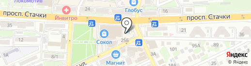 Оружейка на карте Ростова-на-Дону
