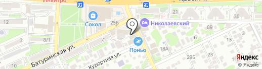 Пари-Матч на карте Ростова-на-Дону