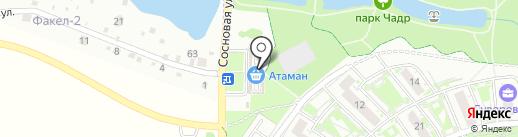Магазин молочной продукции на карте Ростова-на-Дону