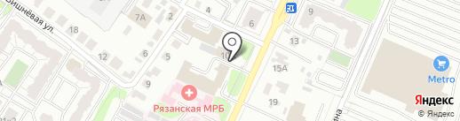 Специализированное Следственное отделение по расследованию ДТП на карте Рязани