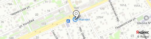 Адаманд на карте Ростова-на-Дону