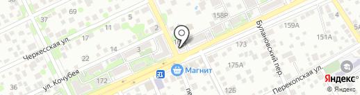 Амиком-Юг на карте Ростова-на-Дону