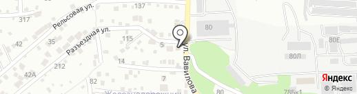 Подкова на карте Ростова-на-Дону